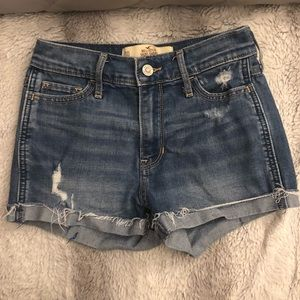 Hollister Shorts - Hollister short shorts high rise medium wash